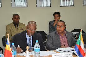 Abdérémane Abdallah Ahmed (député et président de la Commission des Affaires étrangères) et Hamadi Ahamada (ambassadeur)