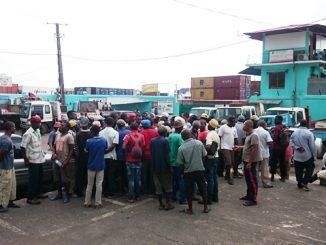 Les camionneurs protestent