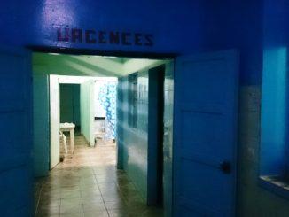 Service des urgences de l'hôpital de Hombo