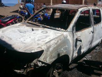 Véhicule incendié du commissaire aux finances le 25 mars 2017