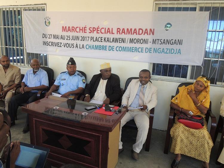 Conférence de presse de la CCIA Ngazidja sur le marché special ramadan