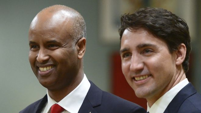 Ahmed Hussen et Justin Trudeau